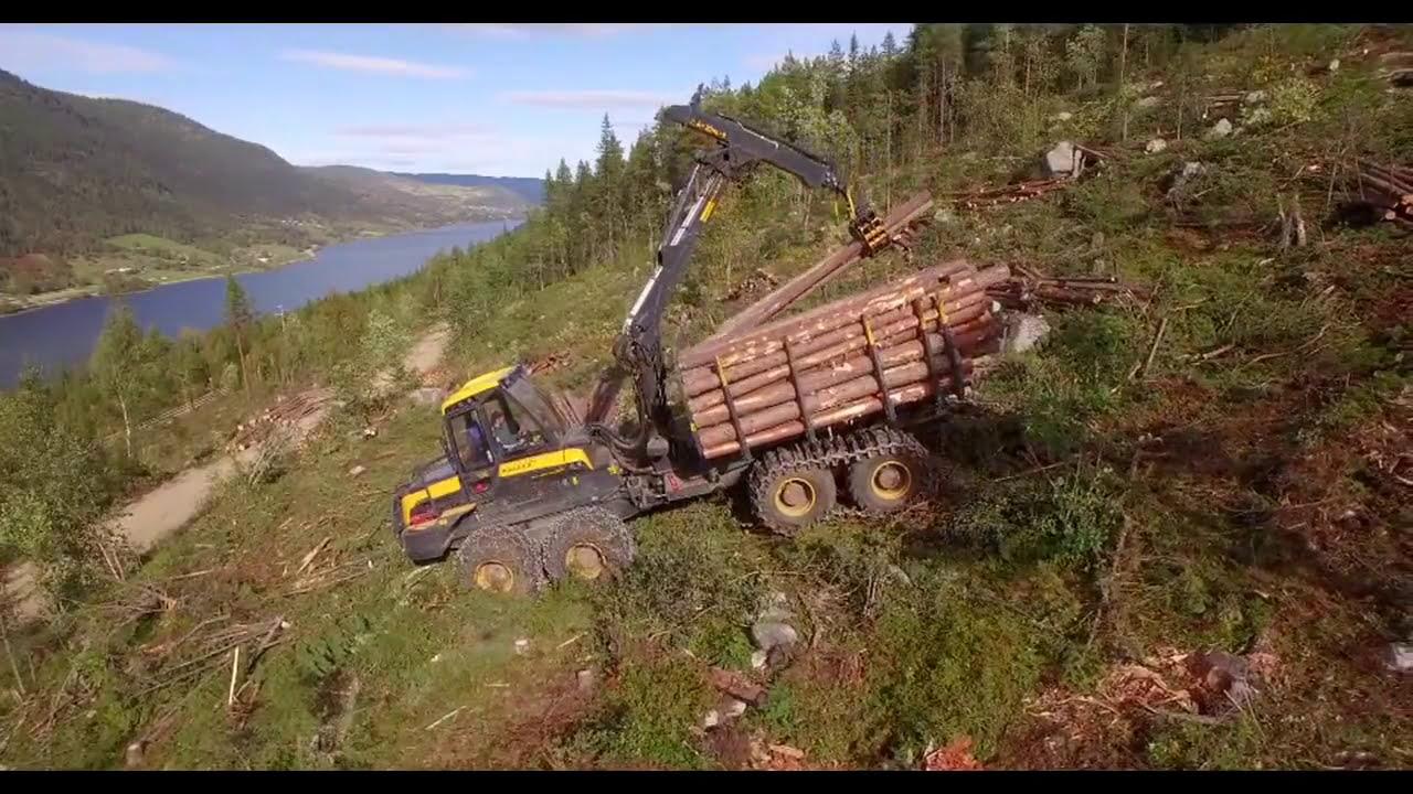 Ponsse Elephant King Active Frame Hydrolic Vla - Hallingdal - Norway   Phantom Movie 09:42 HD