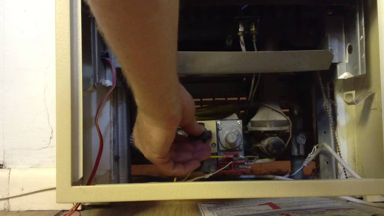 How to turn off the pilot light on a gas heater  YouTube