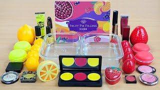LEMON vs STRAWBERRY SLIME Series2 Season Fruit Mix Satisfying Slime Videos