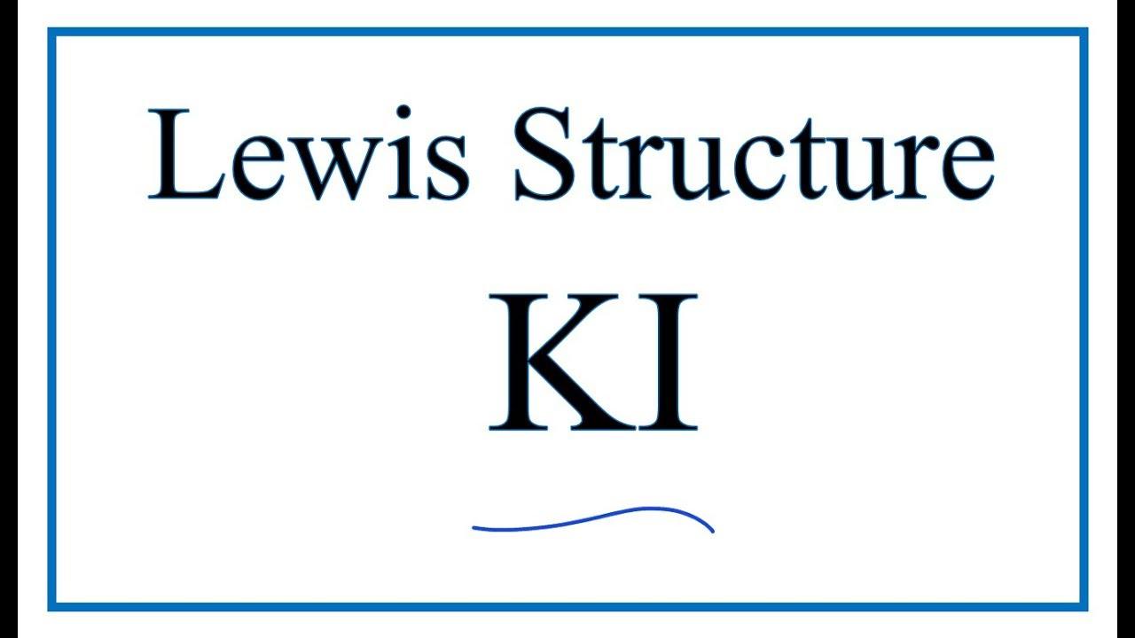 Lewis Dot Diagram For Potassium