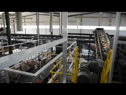 Shanghai Bder soild waste recycling plant_sorting process