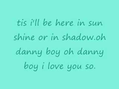 dannyboy w/ lyrics