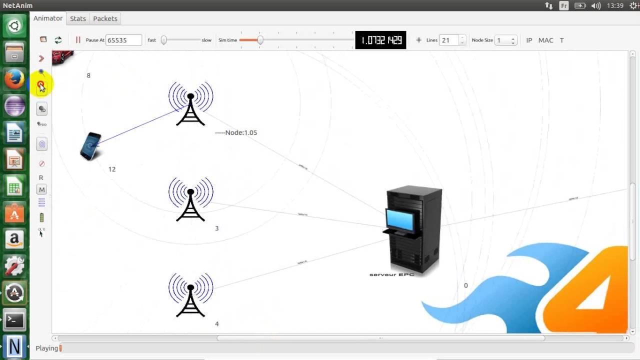 NS-3 simulation réseau LTE(4G)