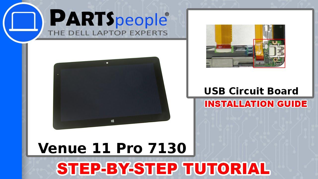 Dell Venue 11 Pro 7130 T07g001 Usb Circuit Board How To Video Tutorial