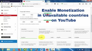 Youtube monetization feature is currently not available in your country and How to solve it