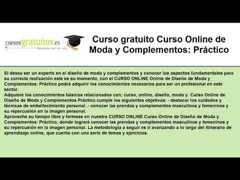 63b2067dc620 Curso gratuito Curso Online de Moda y Complementos  Práctico