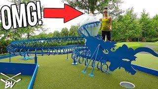 MUST SEE ONE OF A KIND MINI GOLF COURSE! - MINI GOLF HOLE IN ONES AND MORE!