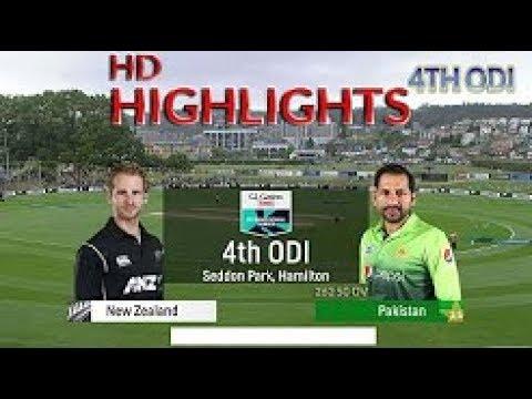 pakistan vs new zealand 4th odi 2018 highlights!