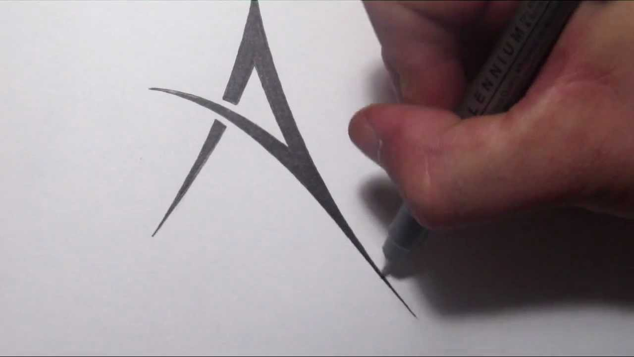 How To Draw A Simple Tribal Letter