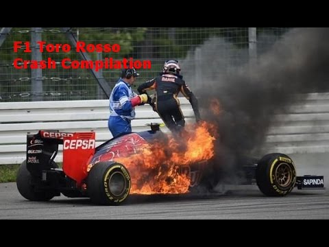 F1 Toro Rosso Crash Compilation