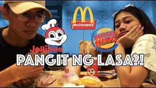 Ano ang mas masarap na Burger at Fries? Mcdo - Jollibee - Burger King (BUSOG)