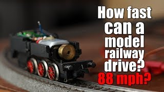 How fast can an overpowered model railway drive? 88 mph?