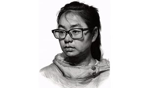 Girl portrait Drawing Time-Lapse