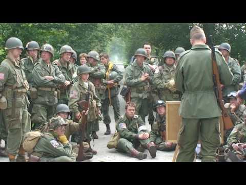 Eerde 20-09-2009 , Airborne Dropzone A 1944 ,501  P.I.R. (Geronimo) ,mock-battle