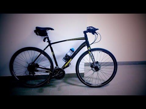 Жесткая вилка Mosso M5 на гибридном велосипеде.