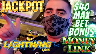 High Limit LIGHTNING LINK Slot Machine HANDPAY JACKPOT | Money Link Slot Machine $40 Max Bet Bonus