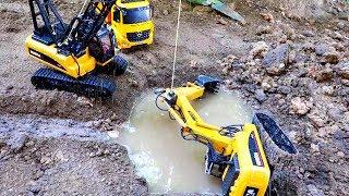 [30분] 포크레인 구출놀이 자동차 장난감 도와주기 중장비 트럭 모래놀이 인기영상 연속보기 Car Toy Rescue Excavator Truck