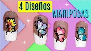 ♥ Diseños de uñas de mariposas ♥Butterfly nail designs