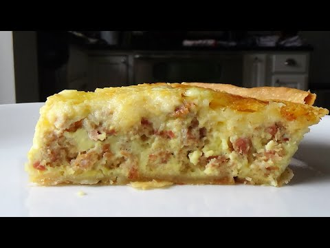 Quiche With Ham Loaf (or Diced Ham) - Menu Leftover Ham #4