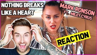 Mark Ronson - Nothing Breaks Like a Heart Official Video ft. Miley Cyrus REACTION | thatsNathan Video