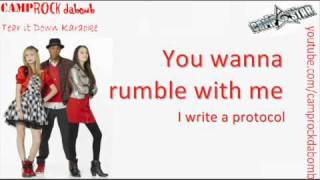 "Camp Rock 2 ""Tear it Down"" Karaoke HQ + Lyrics On Screen & Download"