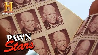 """Pawn Stars: """"You Don't See This Too Often"""" *MAJOR Value for MISPRINTED Stamps* (Season 6) 