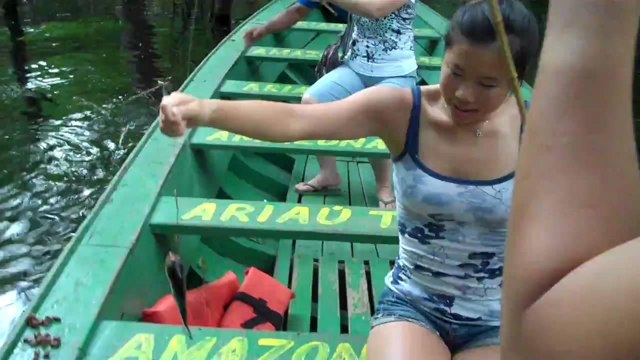 Amazon piranha -- the man-eating fish - YouTube