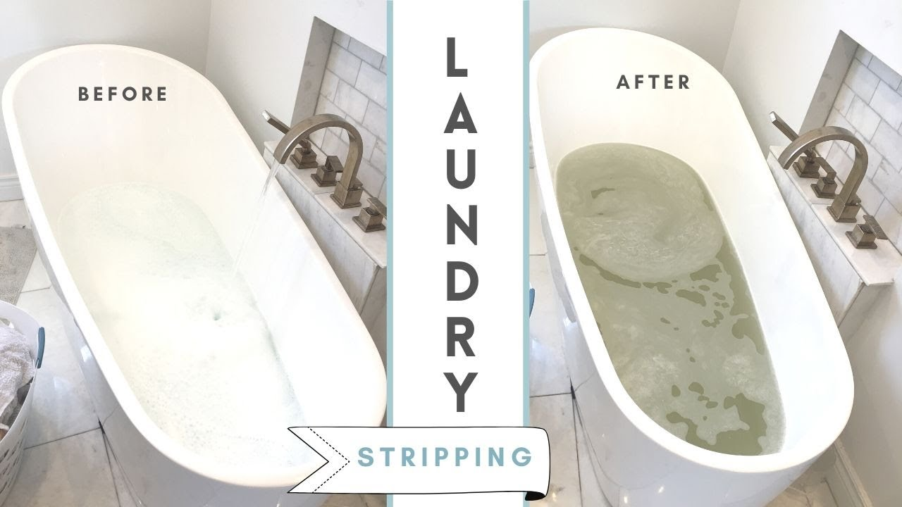 Laundry stripping tutorial - YouTube