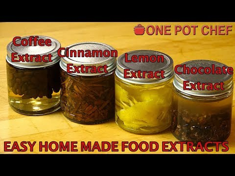Home Made Food Extracts (Coffee / Chocolate / Lemon / Cinnamon) | One Pot Chef