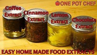 Home Made Food Extracts (Coffee  Chocolate  Lemon  Cinnamon)  One Pot Chef