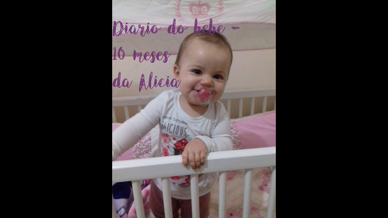 Diario do bebe 10 meses da Alícia - Por Carol Cândido ...