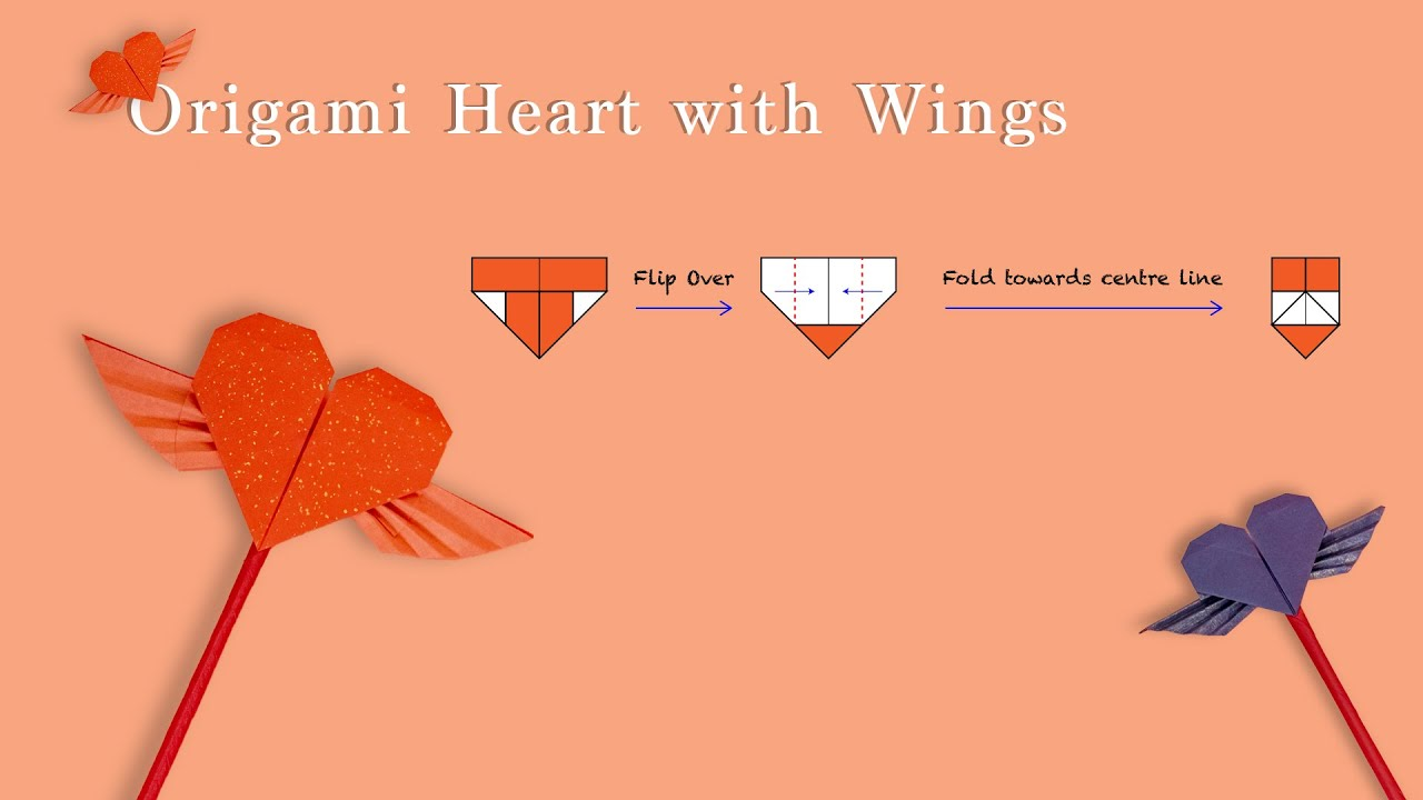 How to Fold an Origami Heart with Wings « Origami :: WonderHowTo | 720x1280