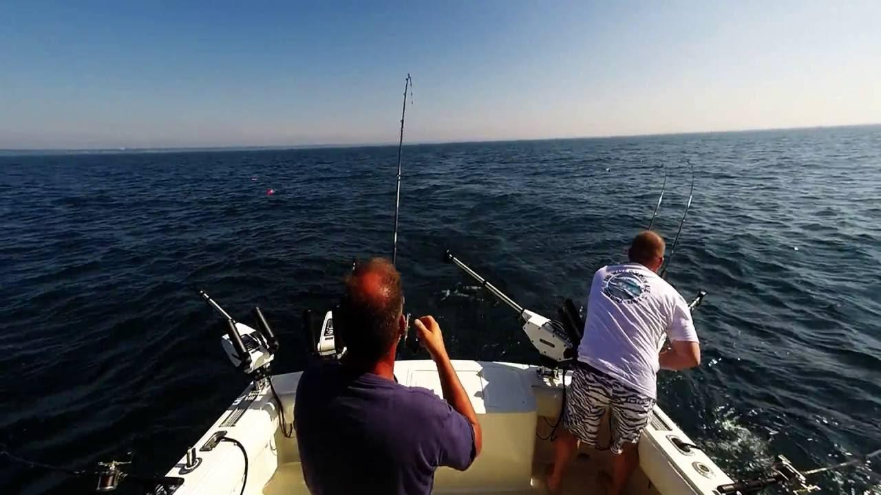 7 22 16 lake ontario salmon fishing day 1 youtube for Elias v fishing