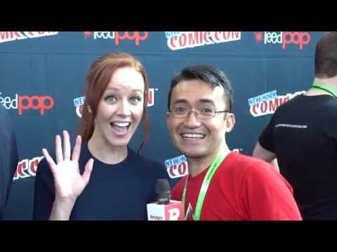 Lindy Booth at NYCC 2015 from