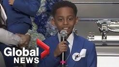 Nipsey Hussle funeral: Lauren London's son describes rapper appearing in a dream