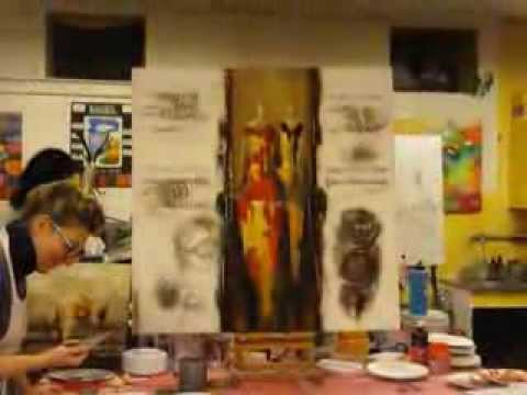stage de peinture abstraite silhouettes a l 39 atelier de no strasbourg fev 2014 youtube. Black Bedroom Furniture Sets. Home Design Ideas
