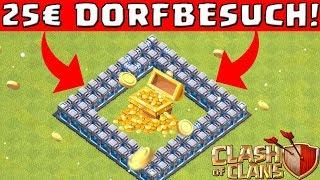 EIN DORF BEKOMMT 25€! ☆ Spezial Dorfbesuche ☆ Clash of Clans