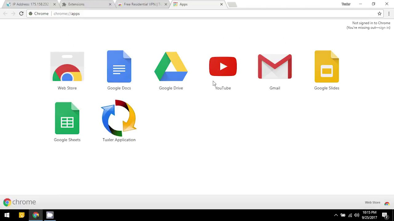 tuxler sur chrome