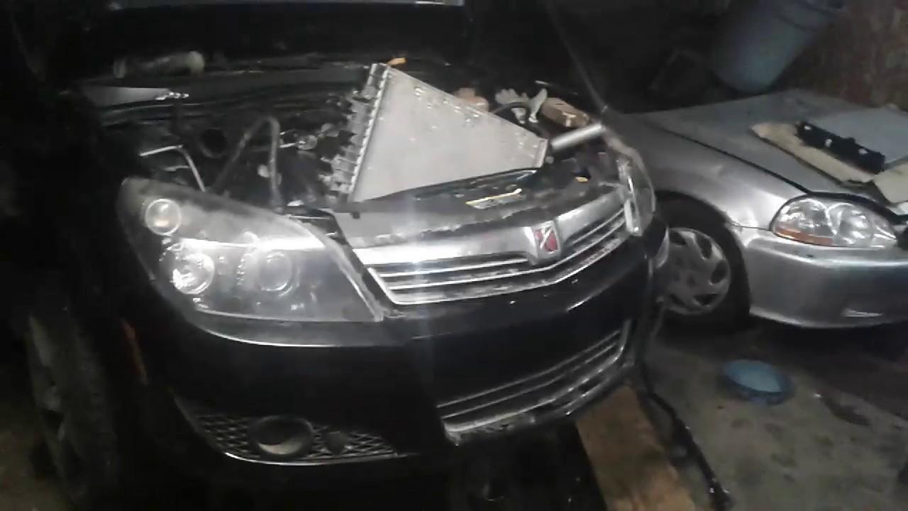 Saturn Astra 2008 radiator replacement - YouTube