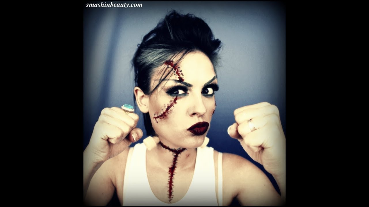 Bride Of Frankenstein Makeup Costume Halloween Makeup Tutorial ...