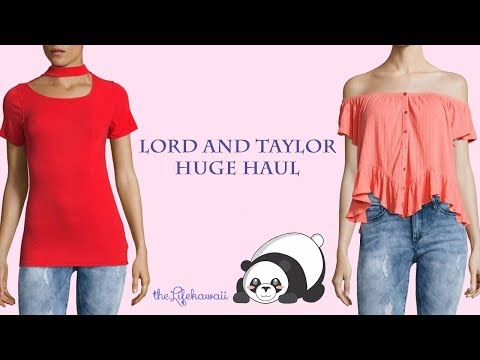 Shopping Haul Lord And Taylor | Lord And Taylor Haul - The Life Kawaii