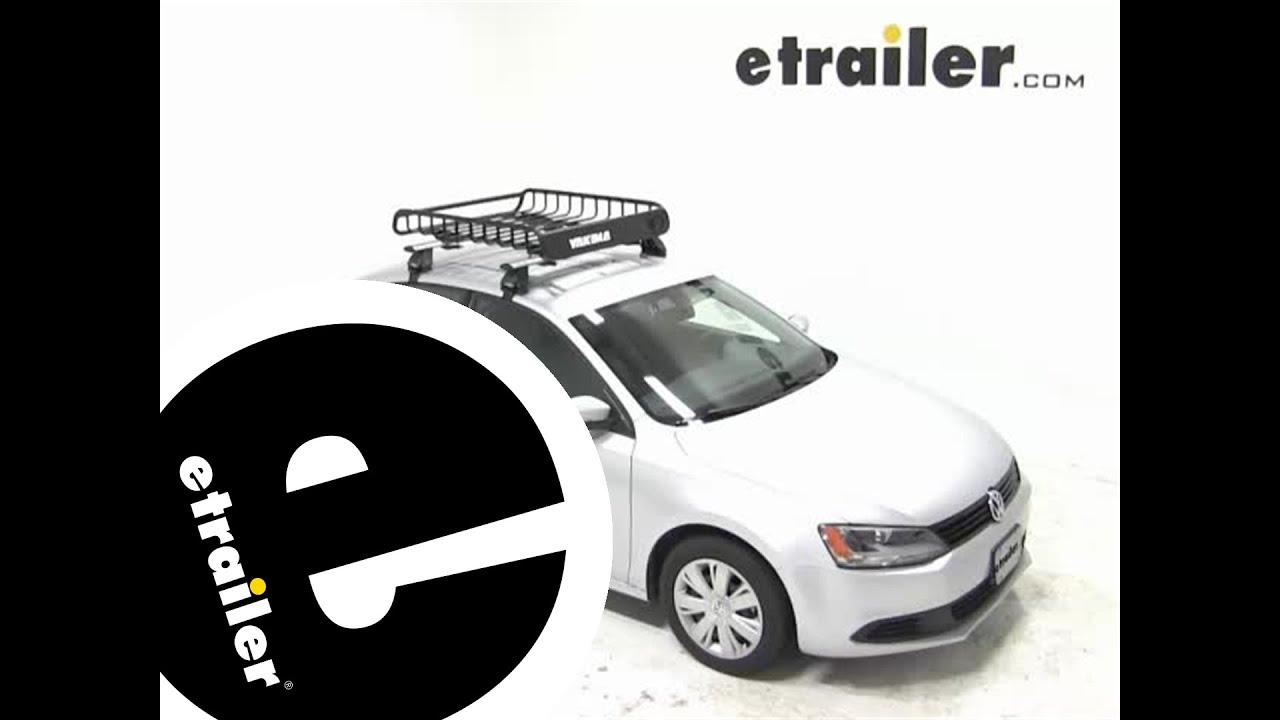 yakima loadwarrior roof cargo basket review  volkswagen jetta etrailercom youtube