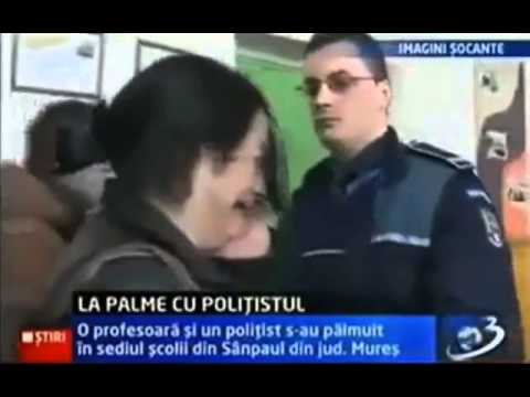 Police Slaps Abusive Teacher
