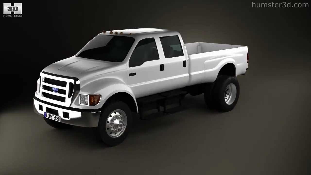 Ford F-650 / F-750 pickup 2012 by 3D model store Humster3D ...