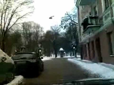 Weather in Vilnius, Lithuania 2010-02-04, cloudy, minus 5 C.wmv