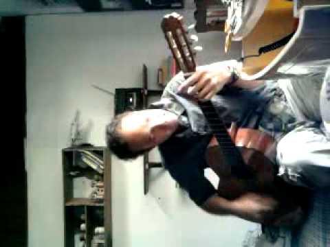 Alfonso German´s jamming with his spanish classic guitar Juanita Admira