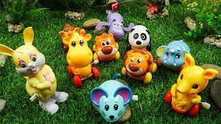 животные для детей умный ребенок - игрушечная ферма животных для детей