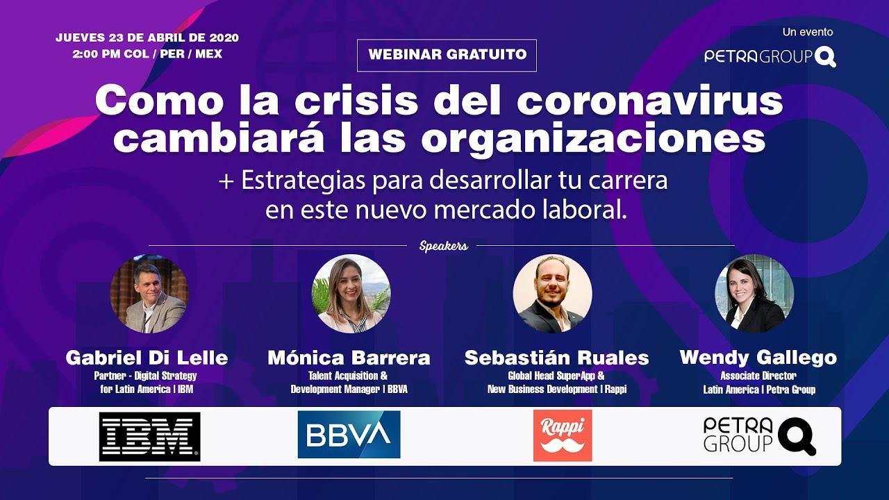Webinar: Cómo la crisis del coronavirus cambiará las organizaciones