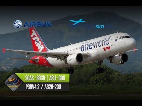 DIRECTO [P3Dv4.2.2] FSLabs A320-200 + AS16 + ASCA | SGAS - SBGR | IVAO (ESP/ENG)