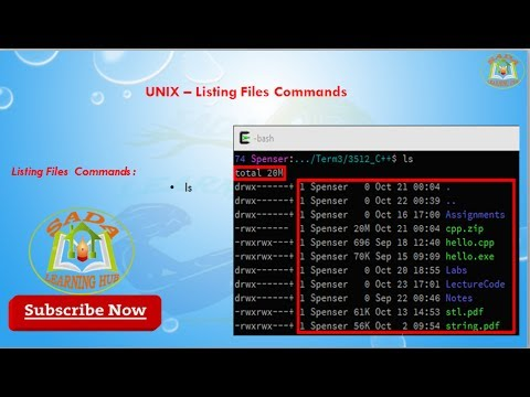 Lesson - 08 : UNIX - Listing Files Commands in Uinx
